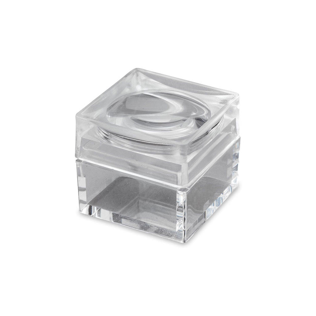 "1"" Square Acrylic Box with 4x Magnifier"