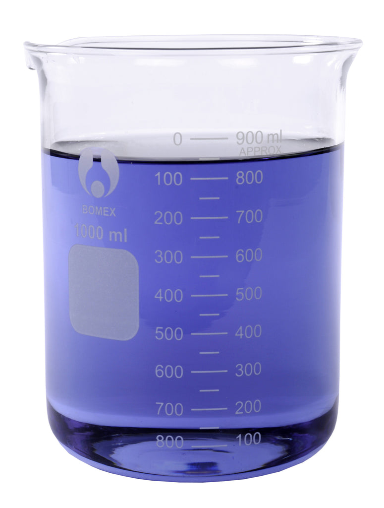 Bomex Griffin Low Form Beaker, Graduated ~ 1000mL (1L)