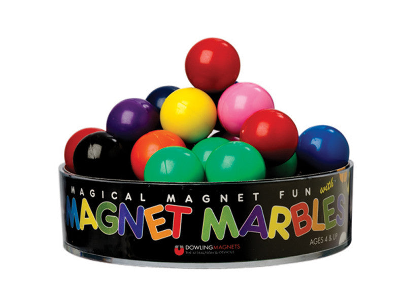 20 Solid-Colored Magnet Marbles - The Science Shop