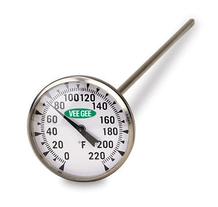 "Thermometer, 1.75"" Dial ~ 0 to 220°F"
