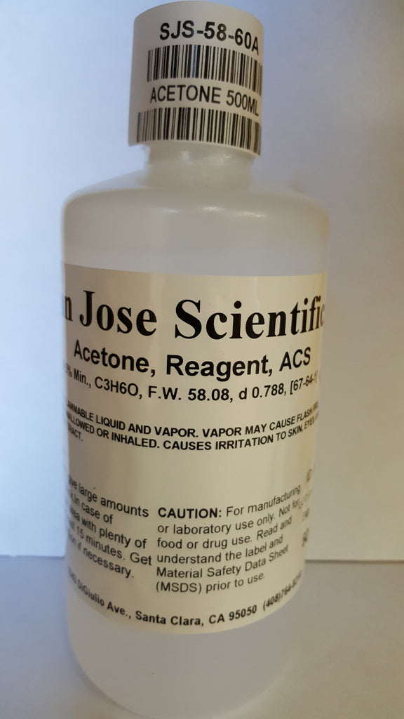 Acetone 500ml Certified A.C.S