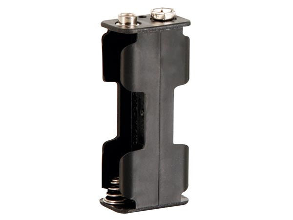 Battery holder for 2 x aa-cell (with snap terminals)
