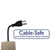 Cable-Safe 15ft: Floor Cord Cover, Taupe-Brown
