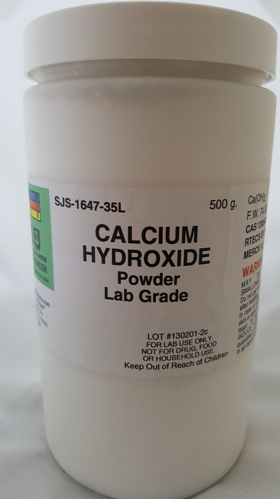 Calcium Hydroxide 500g Lab Grade (Slaked Lime)