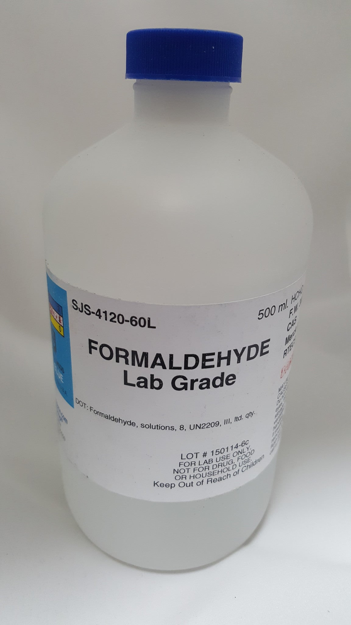Formaldehyde Solution Lab Grade 500mL 37%