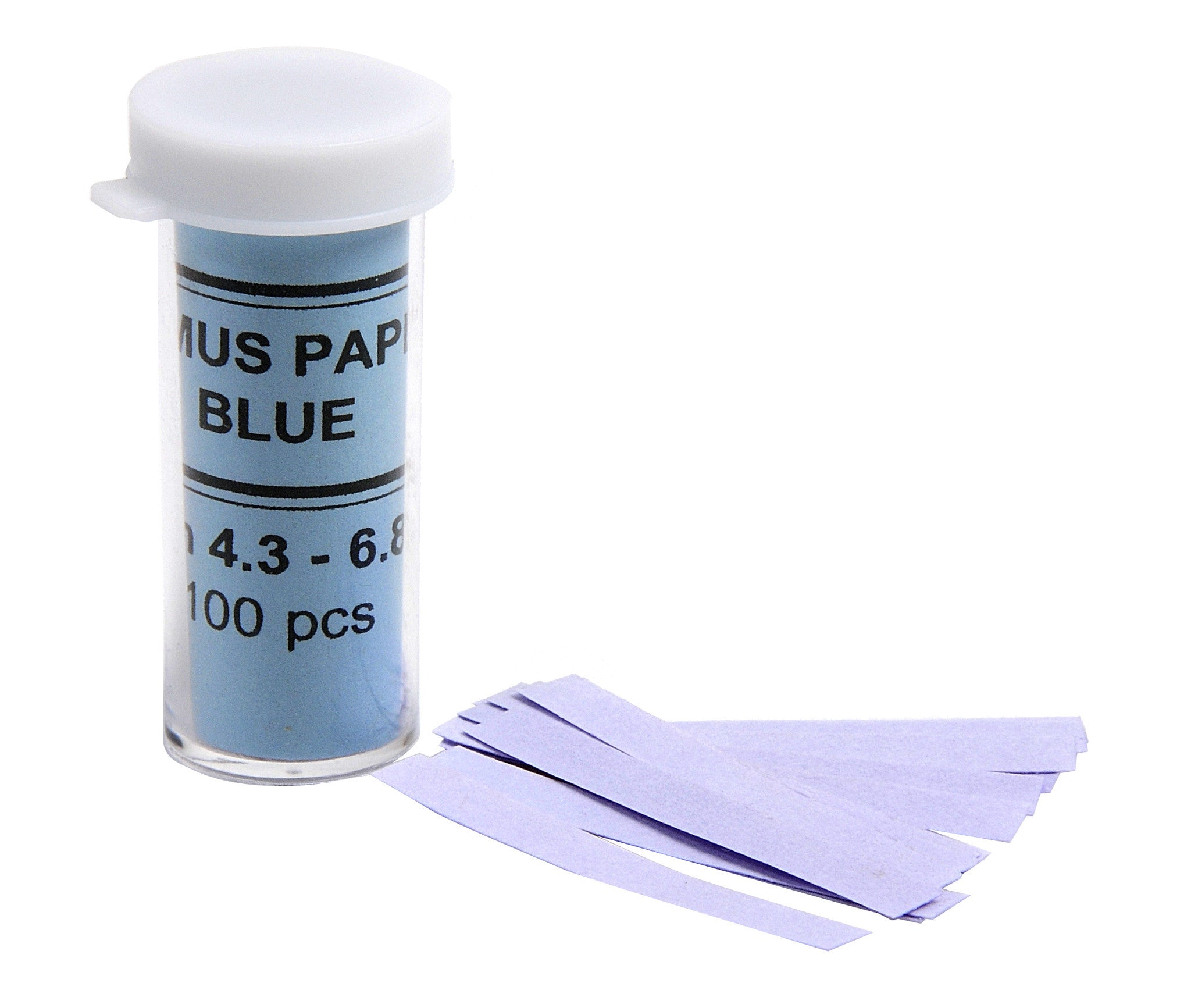pH Test Paper, Blue Litmus 100/vial