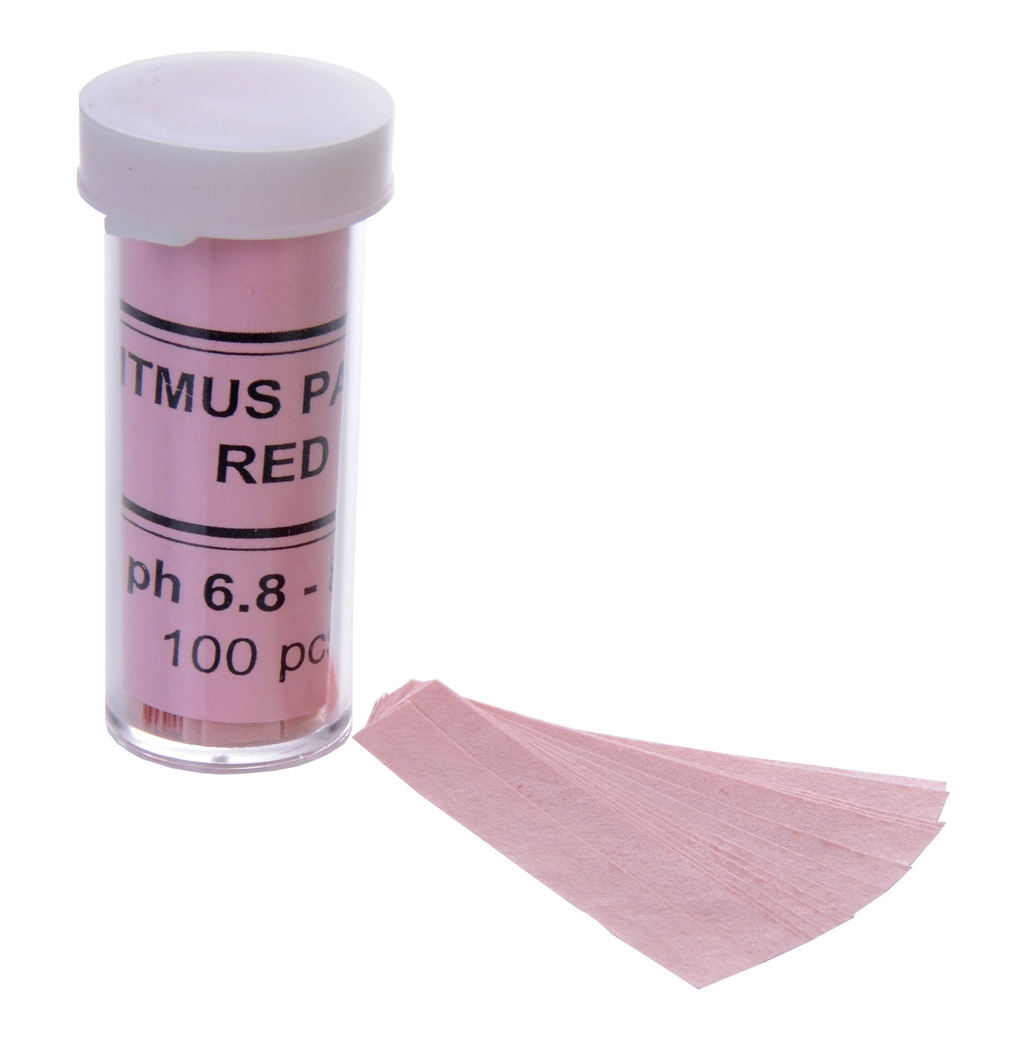 pH Test Paper, Red Litmus 100/vial