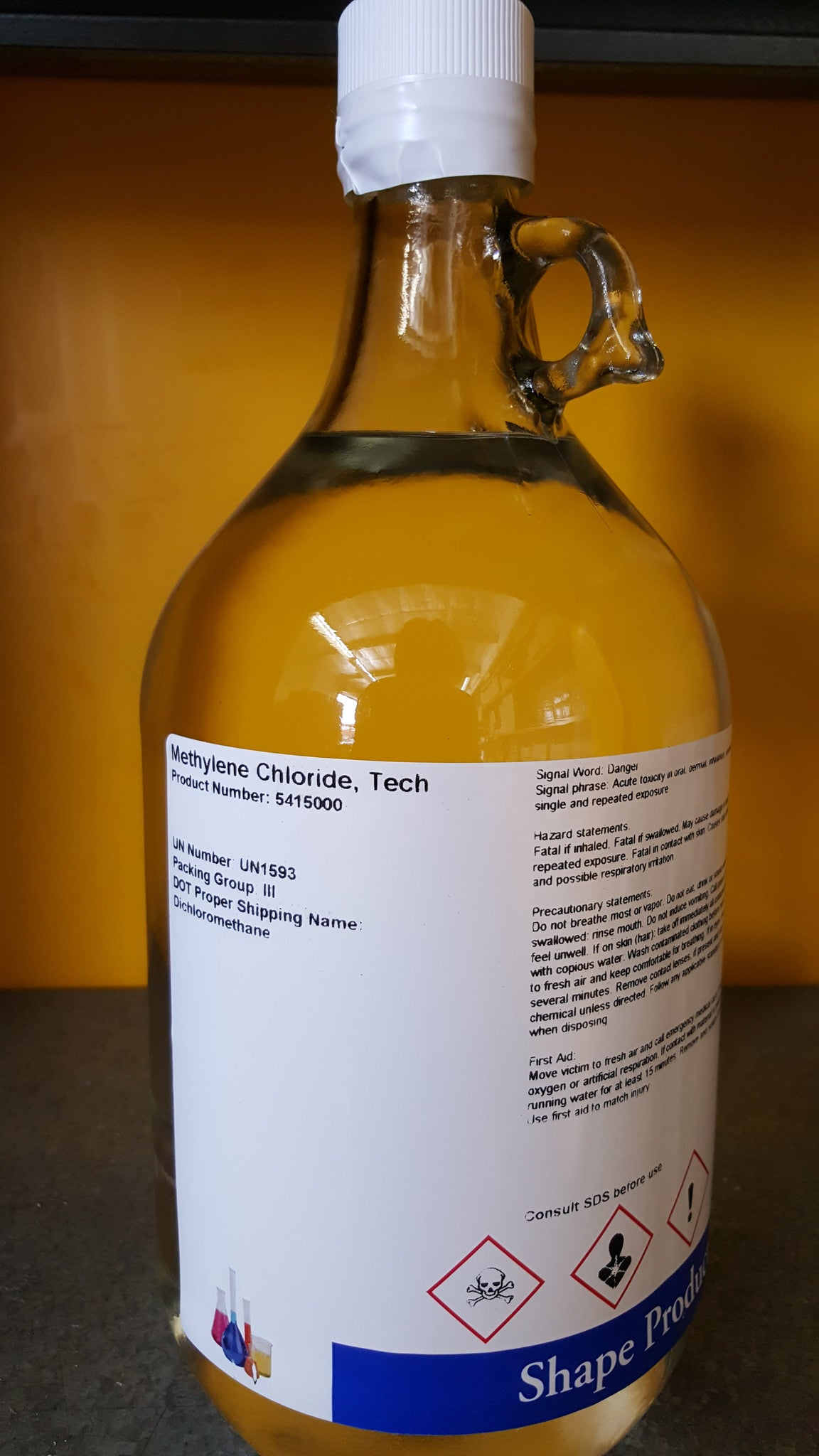 Methylene Chloride 2.5 Liters Tech Grade