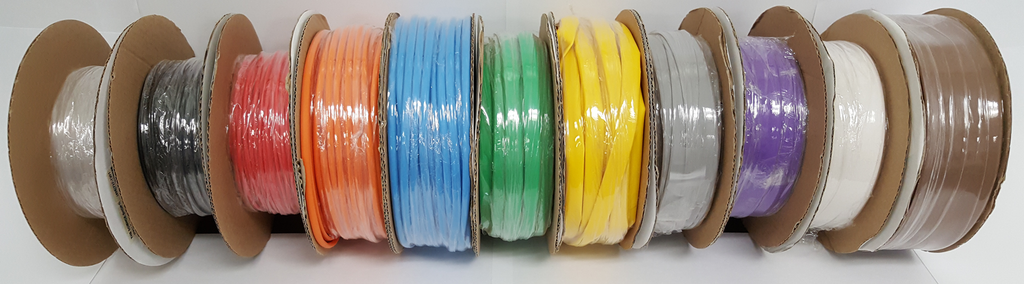 "1"" Blue Heat Shrink Tubing 25' Mini-Spool 2:1 Shrink Ratio"
