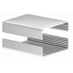 "2502H-4N ~ Split Body Natural Aluminum Enclosure w/ Plain End Plates 4.0""L X 2.610""W X 1.160""H - The Science Shop"