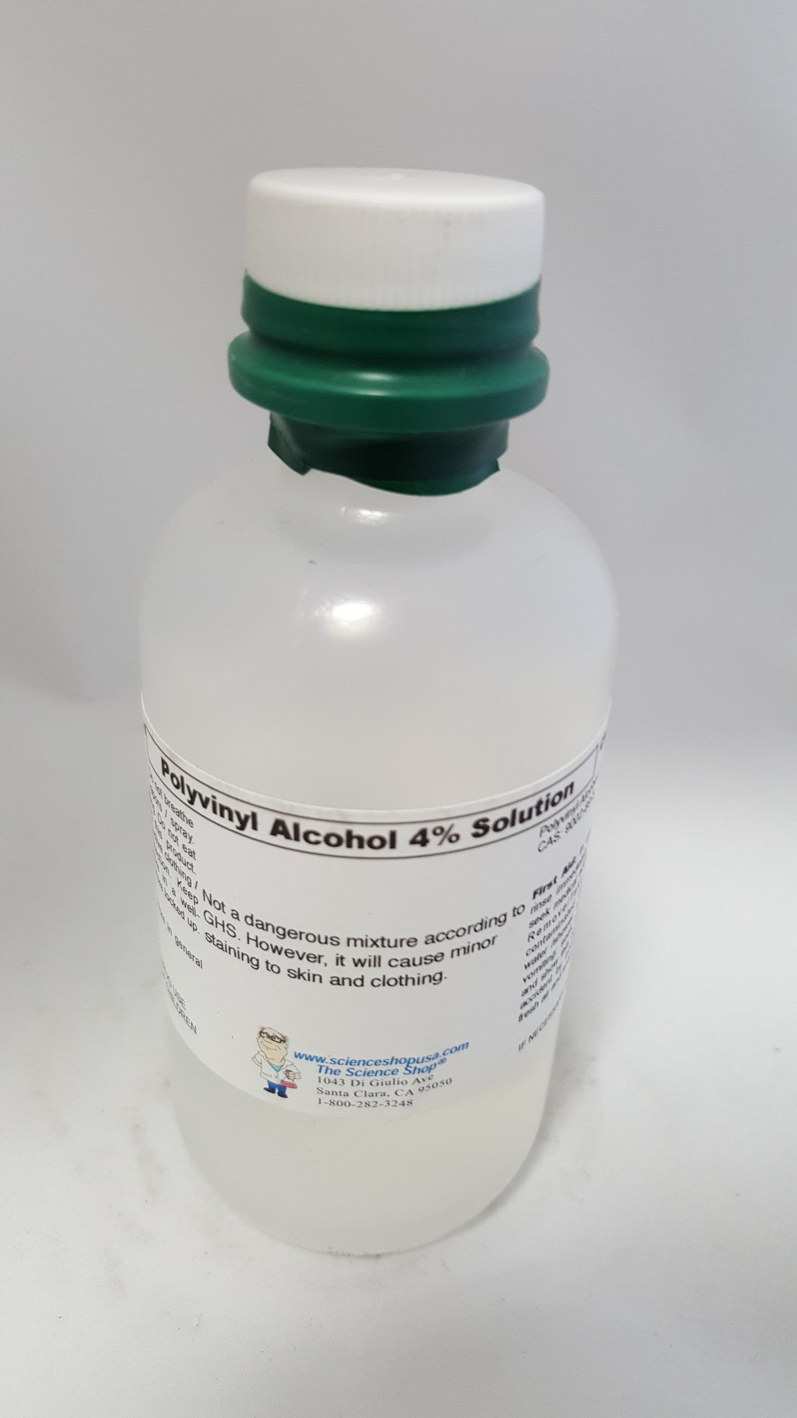 PVA, POLYVINYL ALCOHOL, 4%, PRESERVED SOLUTION, 100ML