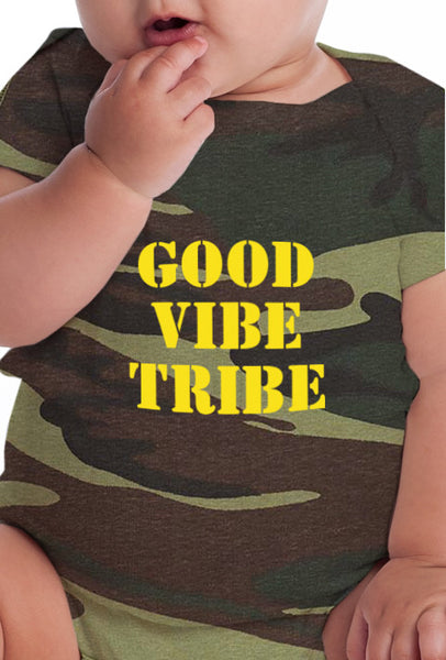 Good Vibe Tribe - Infant Camo Onesie