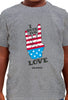 I Vote for LOVE - Toddler T-Shirt (available in Heather Grey and White)
