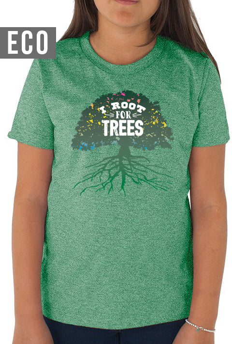 I Root for Trees - Youth Organic T-Shirt (Kelly Green)