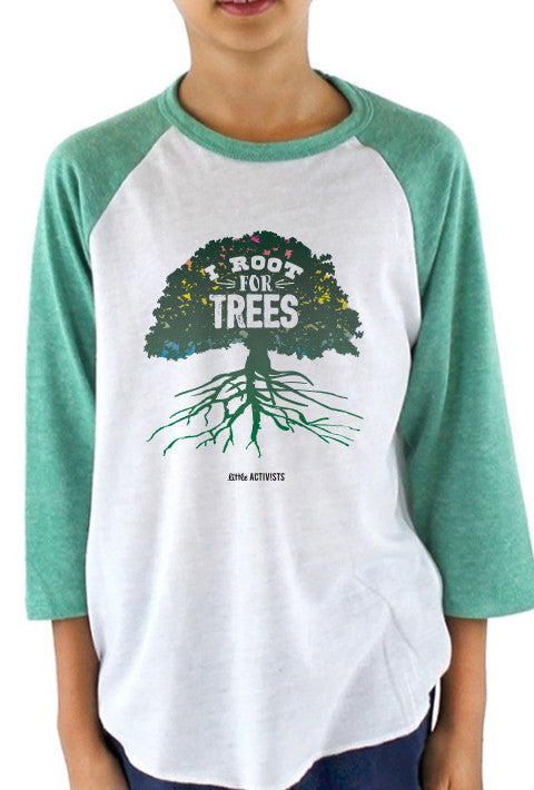 I Root for Trees - Youth Baseball T-Shirt