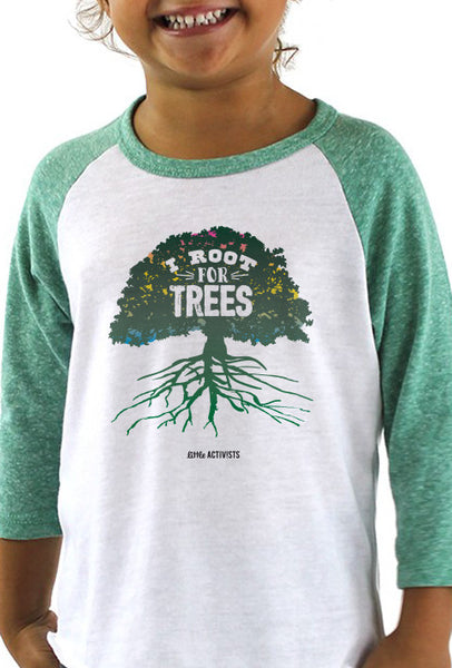 I Root for Trees - Toddler Baseball T-Shirt