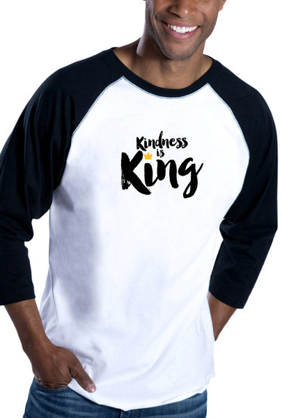 Kindness is King - Men's Baseball T-Shirt