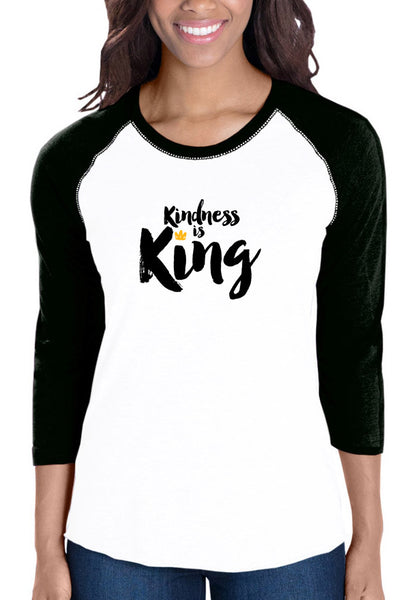 Kindness is King - Women's Baseball T-Shirt