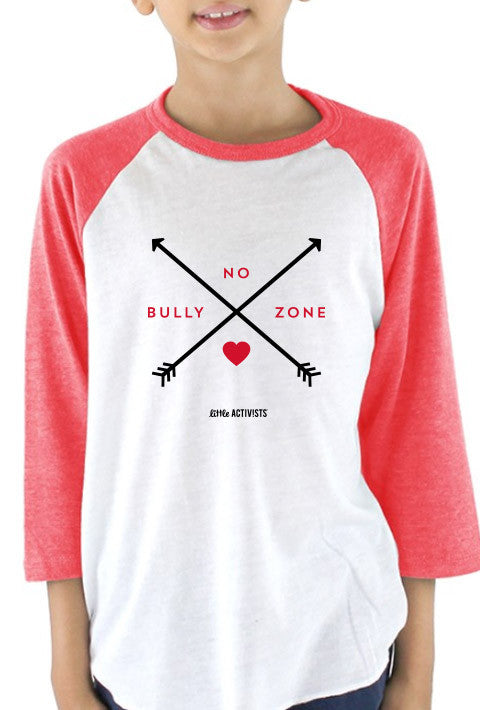 No Bully Zone - Youth Baseball T-Shirt