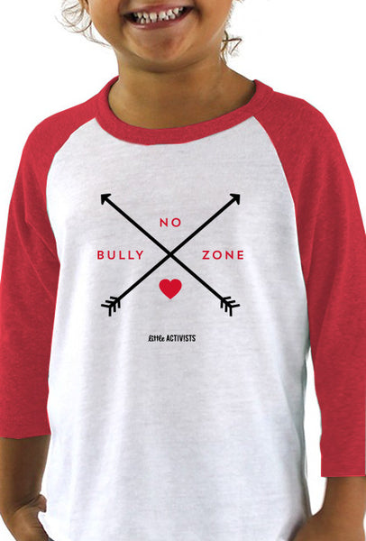 No Bully Zone - Toddler Baseball T-Shirt