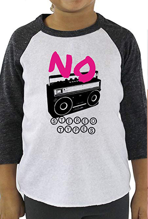 No Stereotypes - Toddler Baseball T-Shirt
