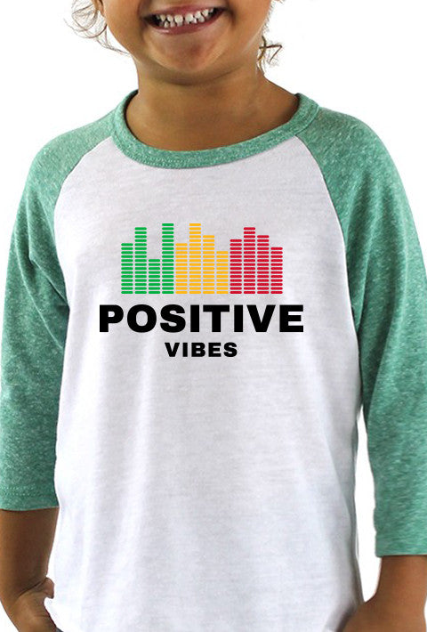 Positive Vibes - Toddler Baseball T-Shirt