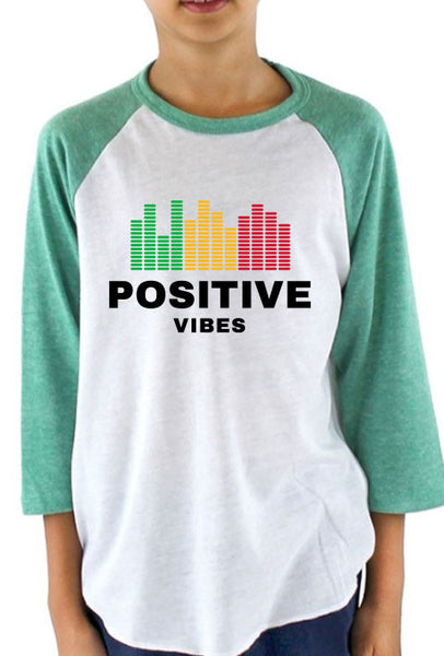 Positive Vibes - Youth Baseball T-Shirt