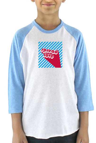 Spread Love - Youth Baseball T-Shirt