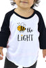 Bee the Light - Toddler Baseball T-Shirt