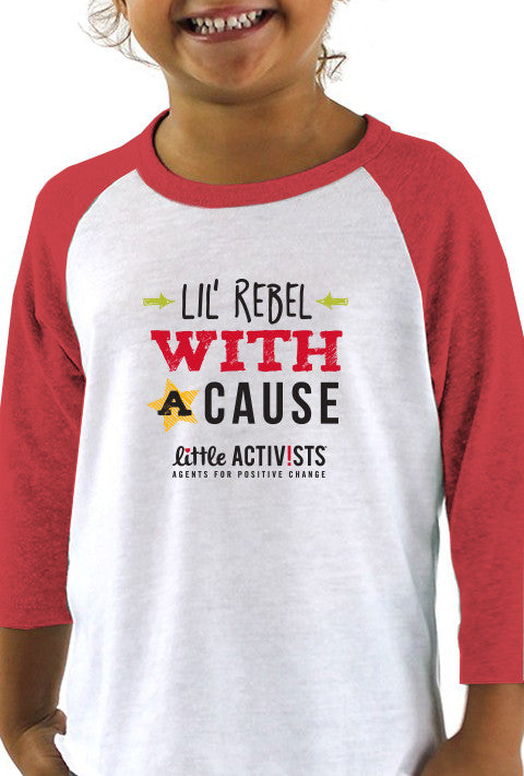 Lil' Rebel with a Cause - Toddler Baseball T-Shirt