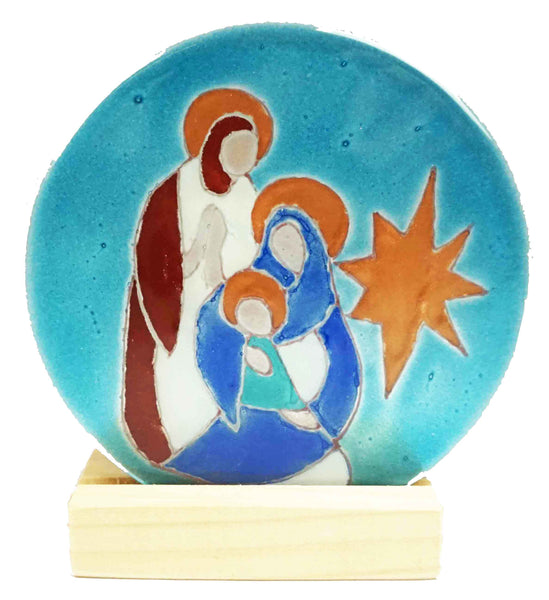 Teligth Nativity Scene Aqua