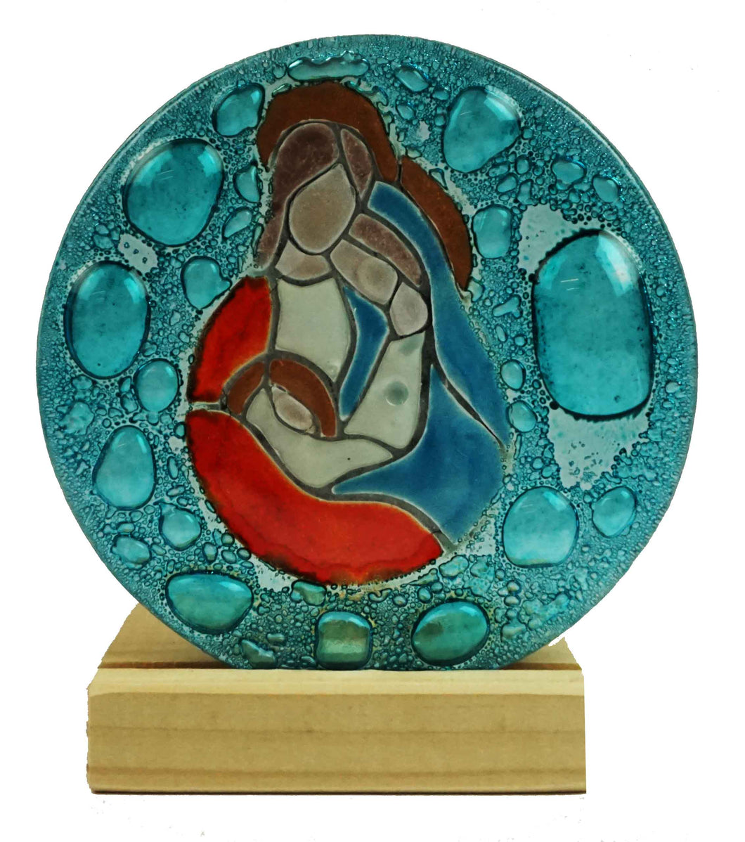 Teligth Nativity Scene Aqua Bubbles