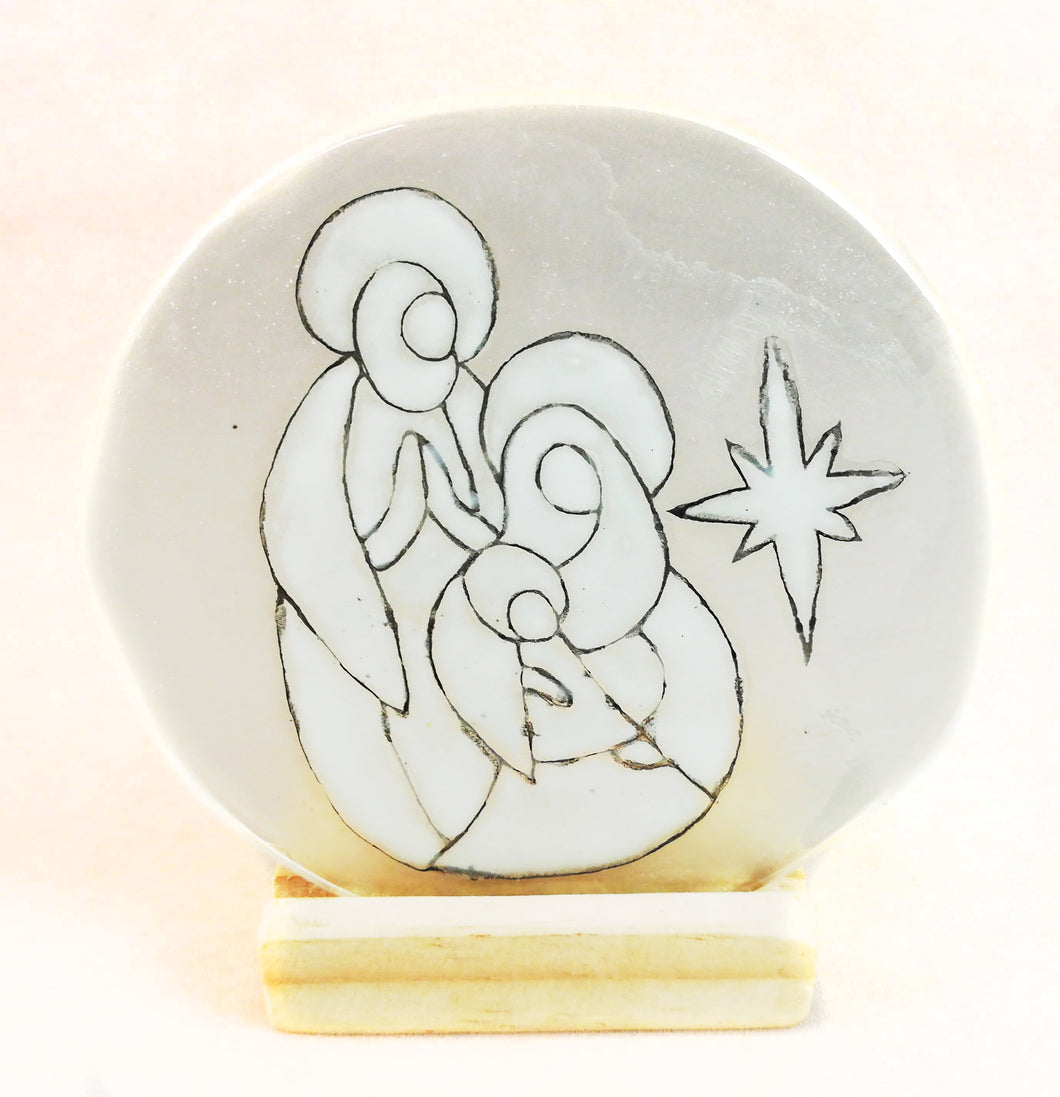 Teligth Nativity Scene White