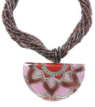 Load image into Gallery viewer, Calypso Classic Mandala Half Moon Necklace
