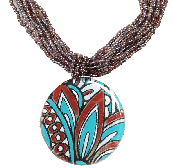 Calypso Classic Round Necklace Multi strand seed beads