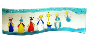 Wavy  Baby Nativity Scene  Mary , Joseph , Baby , Angel and the Kings Multicolors