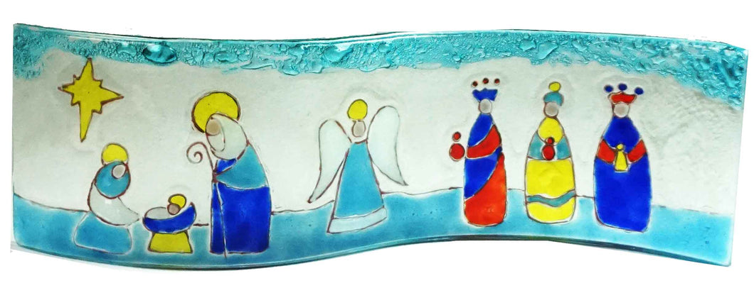 Wavy   Nativity Scene  Mary , Joseph , Baby , Angel and the Kings Multicolors