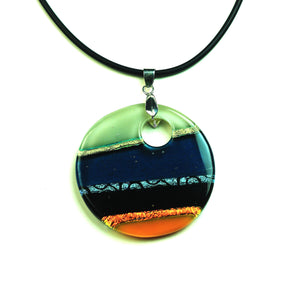 Dichroic Sweet Orange Necklace