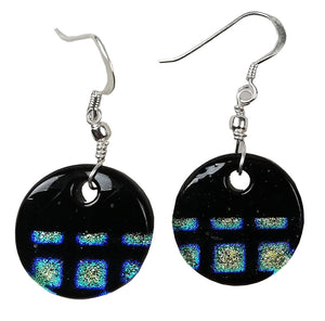 Dichroic Earing Two Tone Black Green