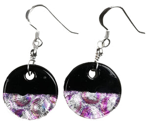 Dichroic Earing Two Tone Black Violet
