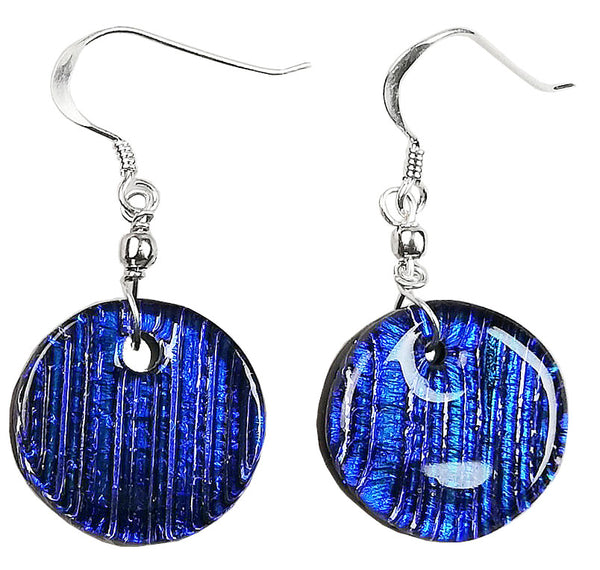 Dichroic Earing Blue Lines