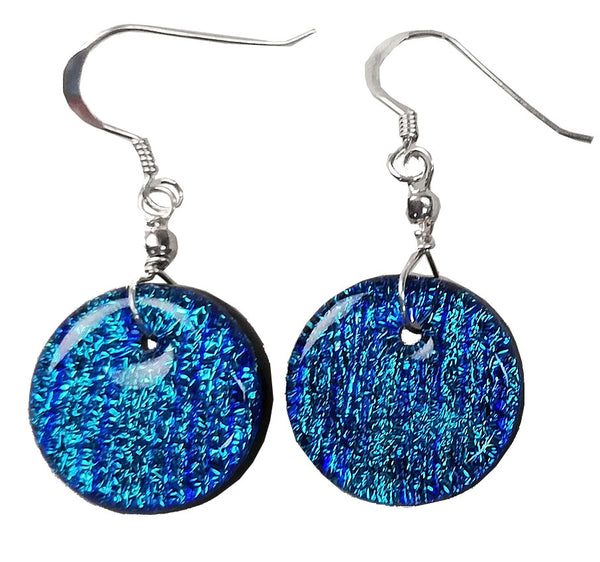 Dichroic Earing BlueGreen Lines