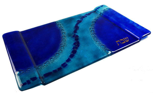 Challah Tray Aqua Blue Path