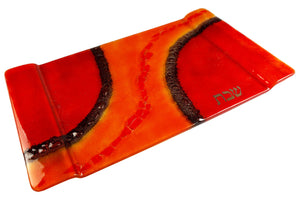 Challah Tray Red Orange Path
