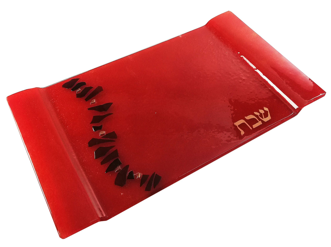 Challah Tray Cherry Red Path