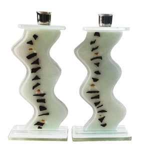 Shabbat Candlesticks White Path