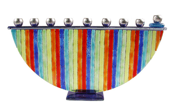 Menorah  or Janukia  Rainbow  half circle
