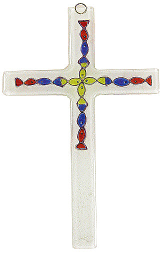 Glass Cross Aqua Kids   Thin