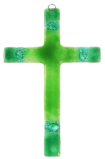 Glass Cross Green