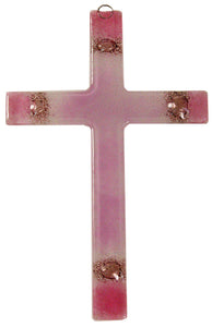 Glass Cross Ligth Rose